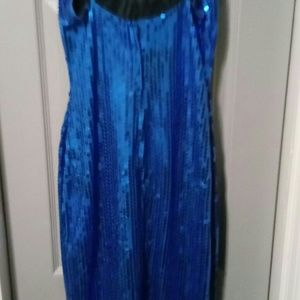 Dresses & Skirts - Gorgeous Blue Sequin Evening Gown